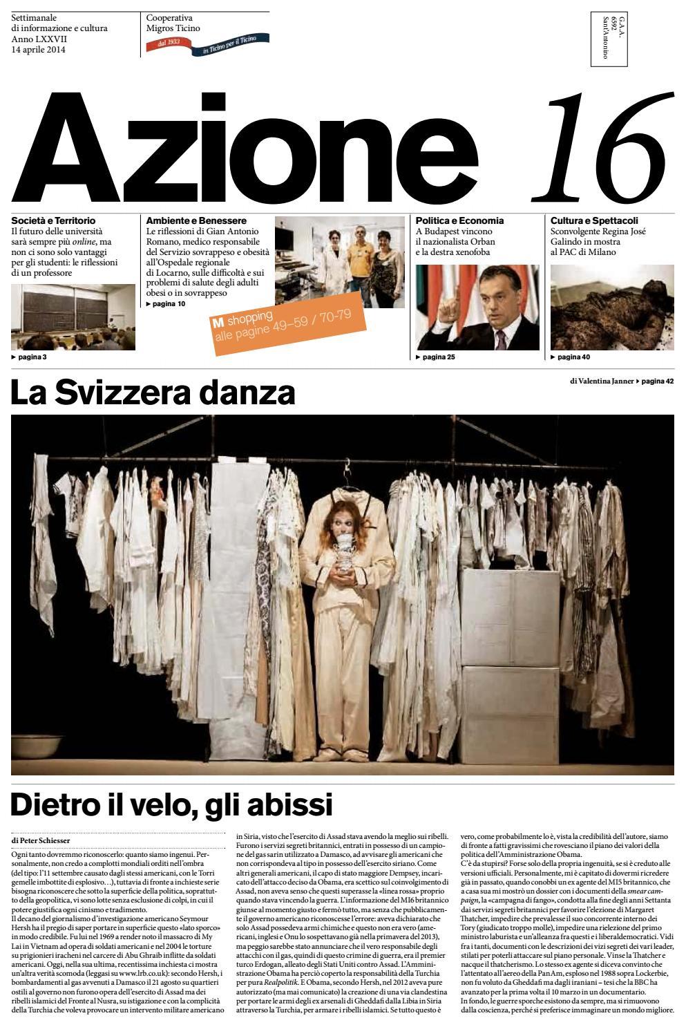 Azione 16 Del 14 Aprile 2014 By Azione Settimanale Di Migros Ticino