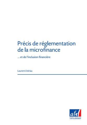 Etudes De L Afd N 10 Precis De Reglementation De La Microfinance