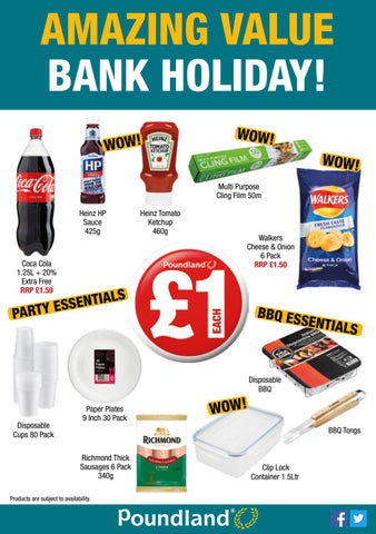 Poundland August Bank Holiday Leaflet 2016 By Poundland Issuu