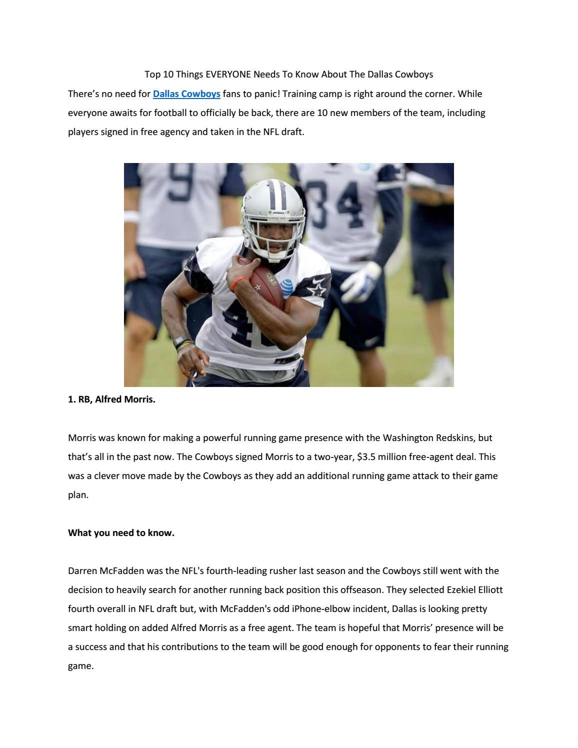 Top 10 things everyone needs to know about the dallas cowboys by SPORTS  TIPS - issuu 6d9c5e365
