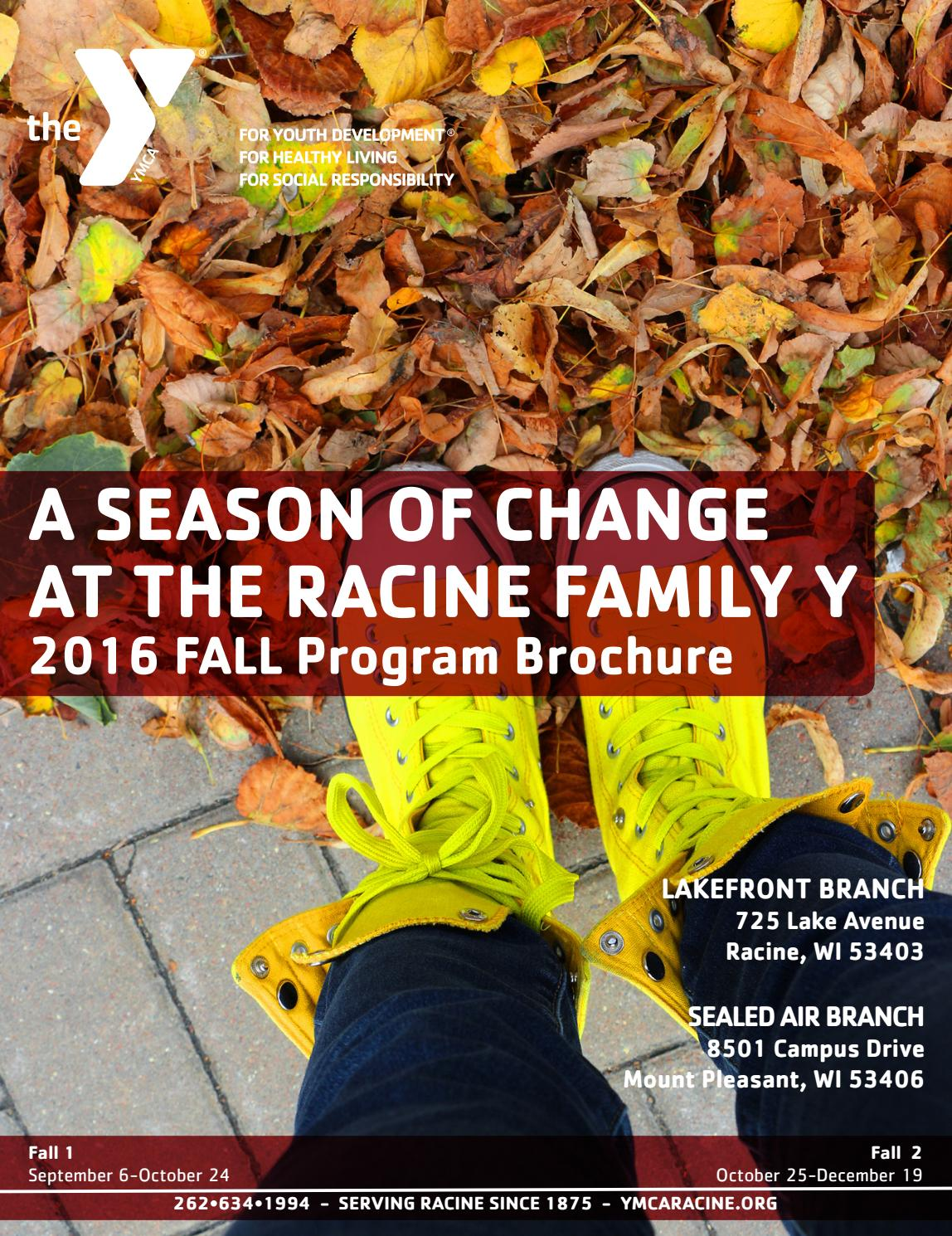 Racine family y fall 2016 program brochure by racine for Academie de cuisine summer camp