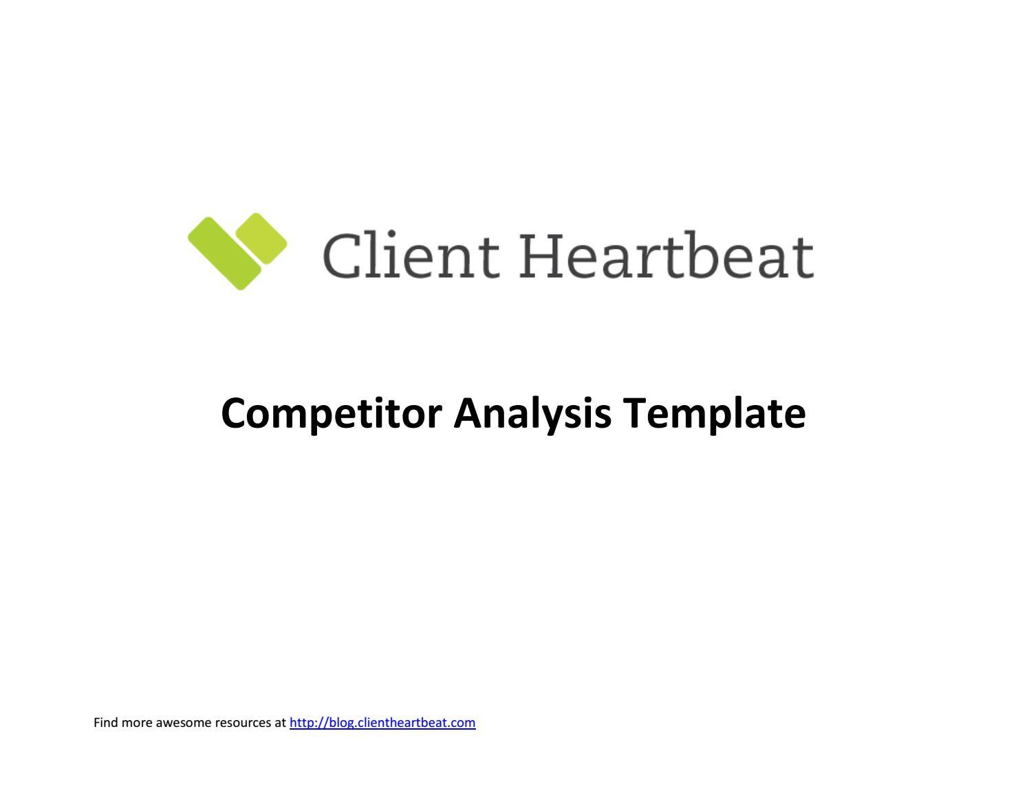 Competitive Analysis Template By Yao Yan Issuu