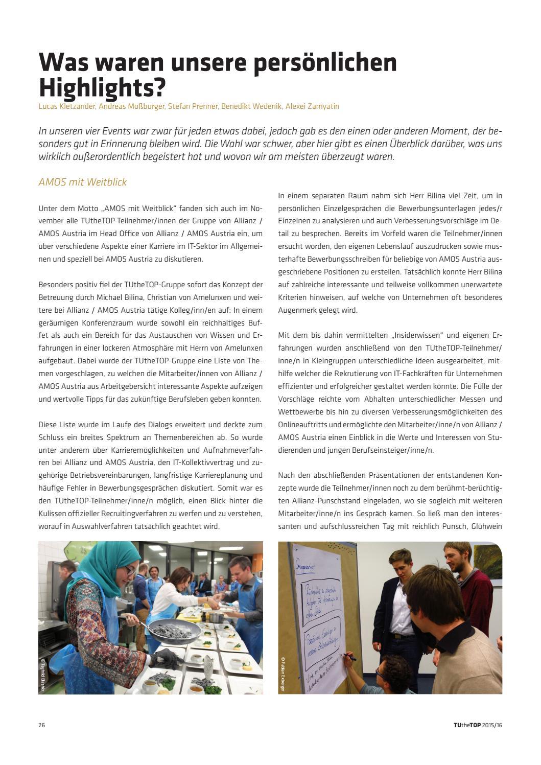 TUtheTOP Jahrgangsbericht 2015/16 by TU Career Center GmbH - issuu