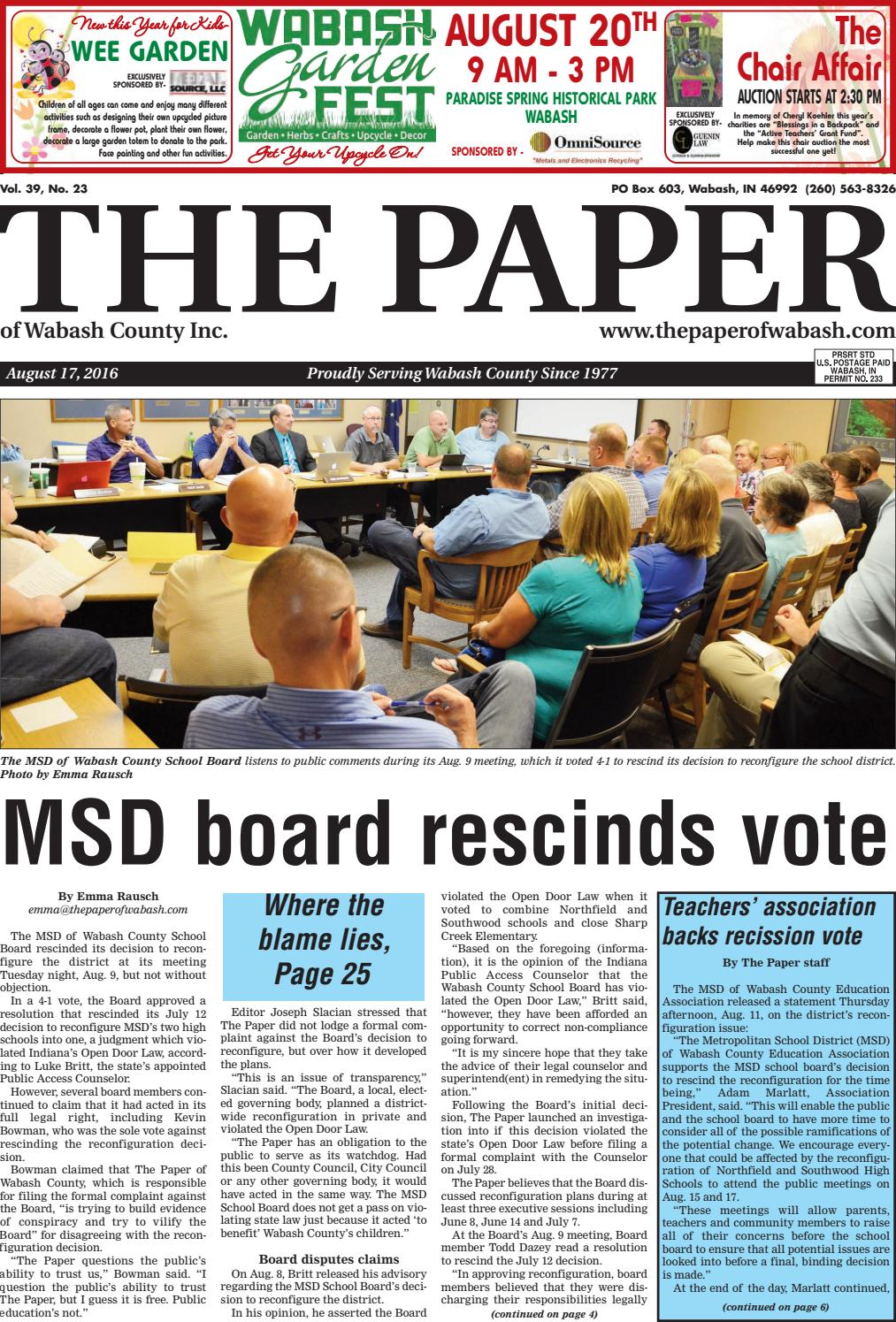 The Paper Of Wabash County