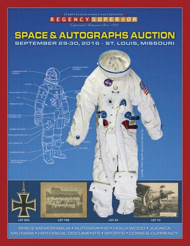 f78bcab6 Space & Autographs Auction September 2016 by Regency Superior - issuu