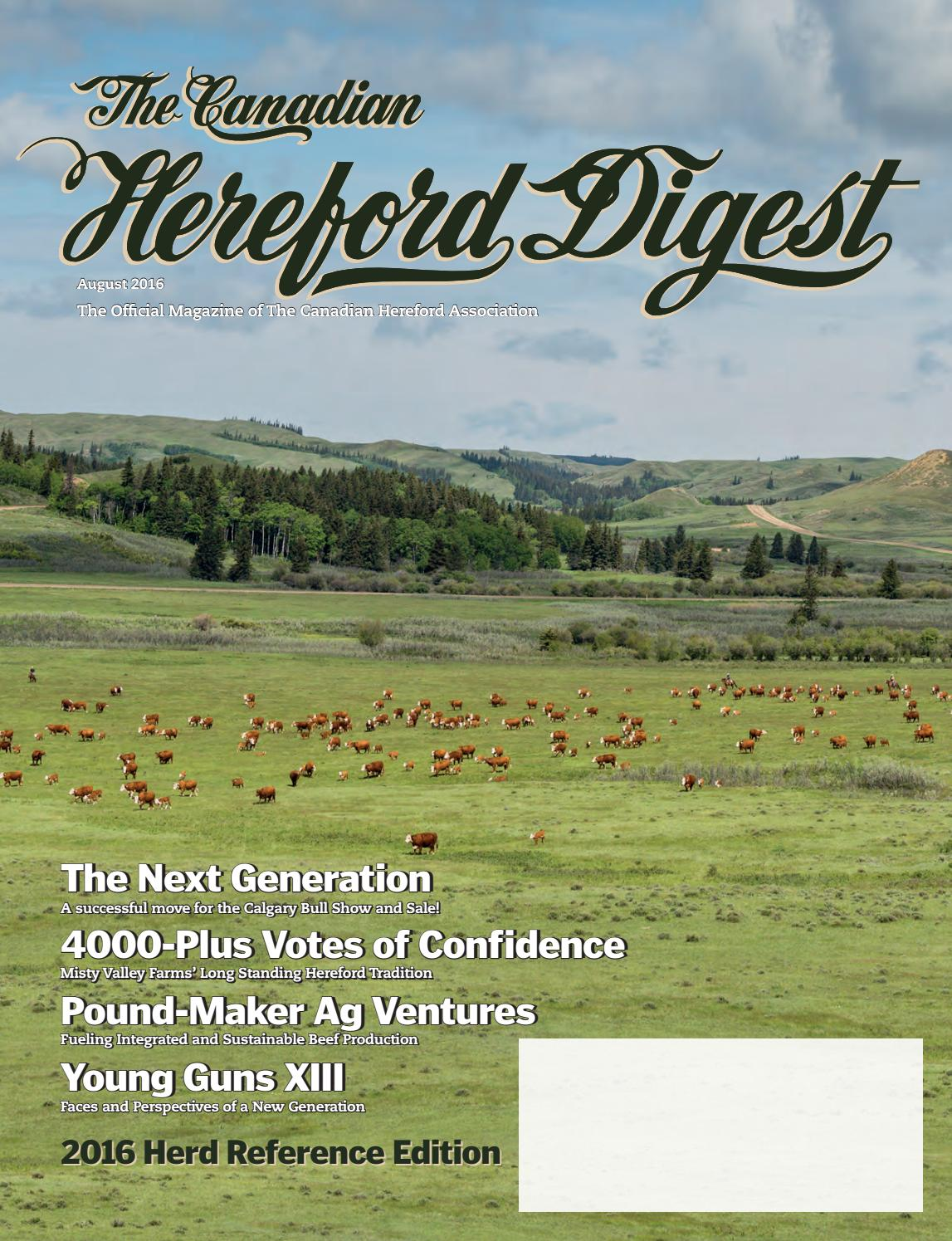 The Canadian Hereford Digest 2016 Herd Reference Edition by Canadian  Hereford Association - issuu