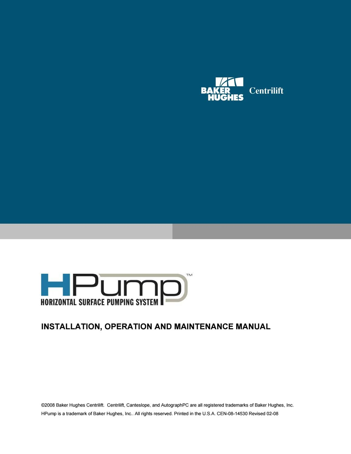 Baker Hughes Hpump Operation And Maintenance Manual By Jorge Issuu Relays Class 8501 8 Pin Wiring Diagram