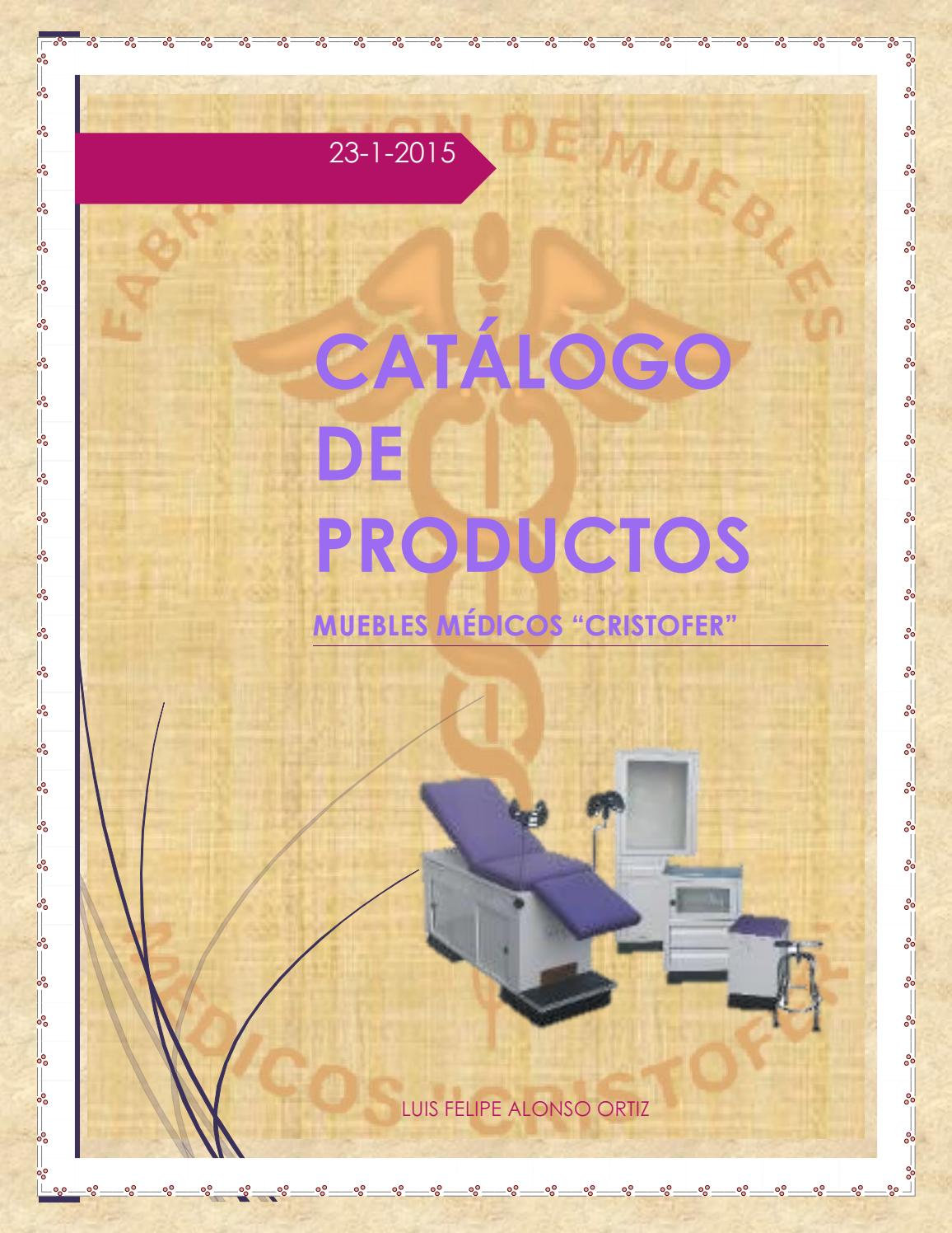 Catalogo Muebles M Dicos Cristofer By Muebles M Dicos Cristofer  # Muebles Fijos Especificaciones