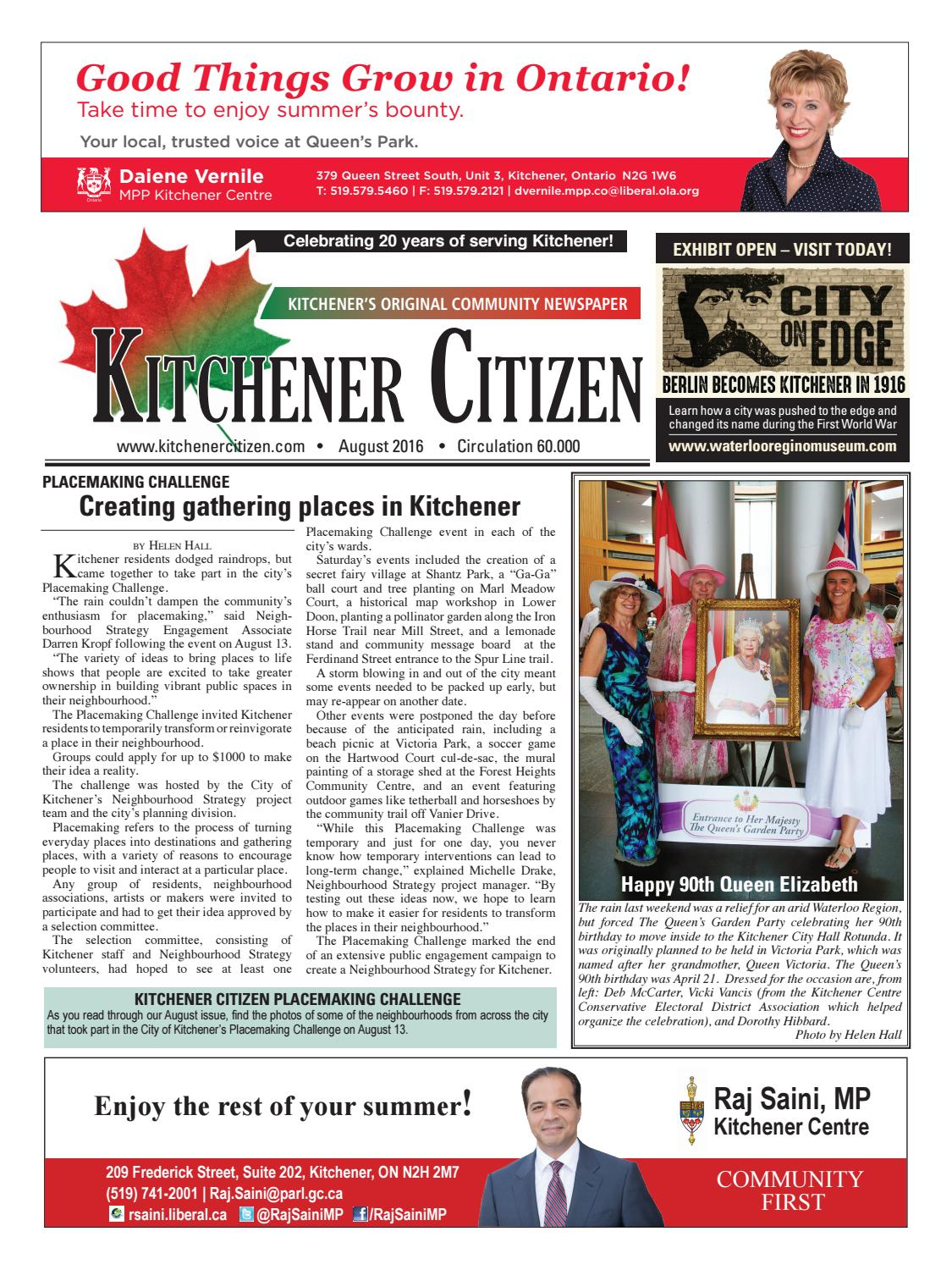 Kitchener Citizen - August 2016 by Kitchener Citizen - issuu