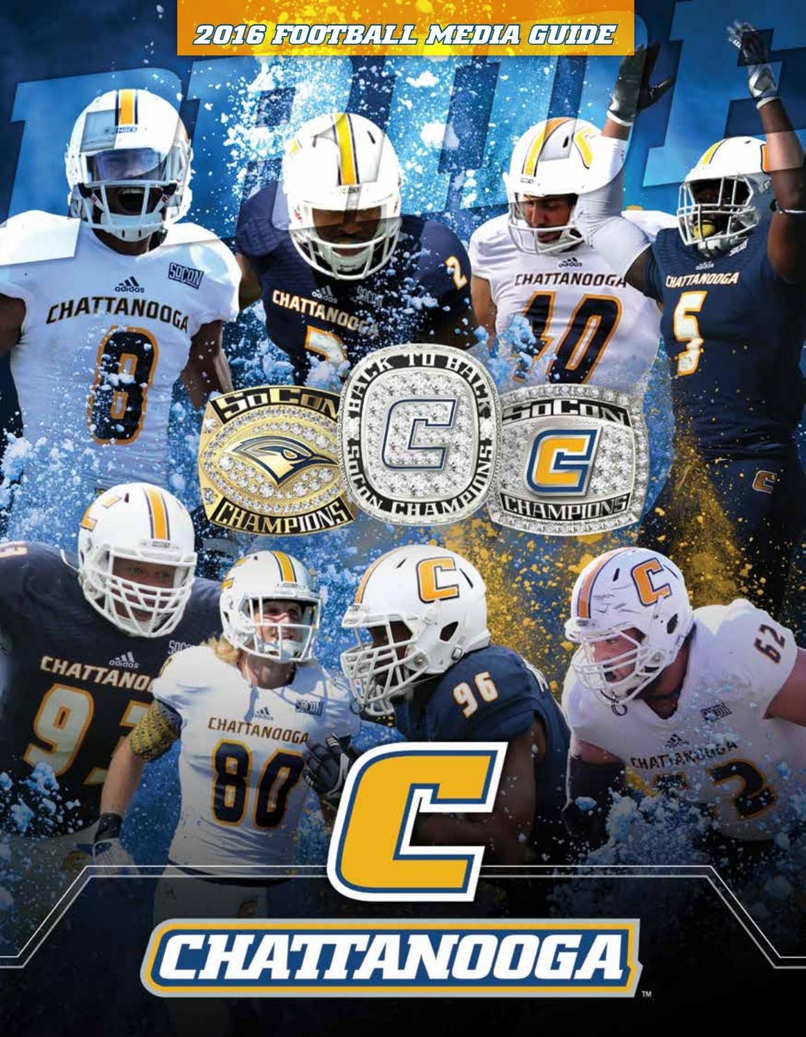 Issuu Athletics Chattanooga Mocs By Football Media Guide 2016 -