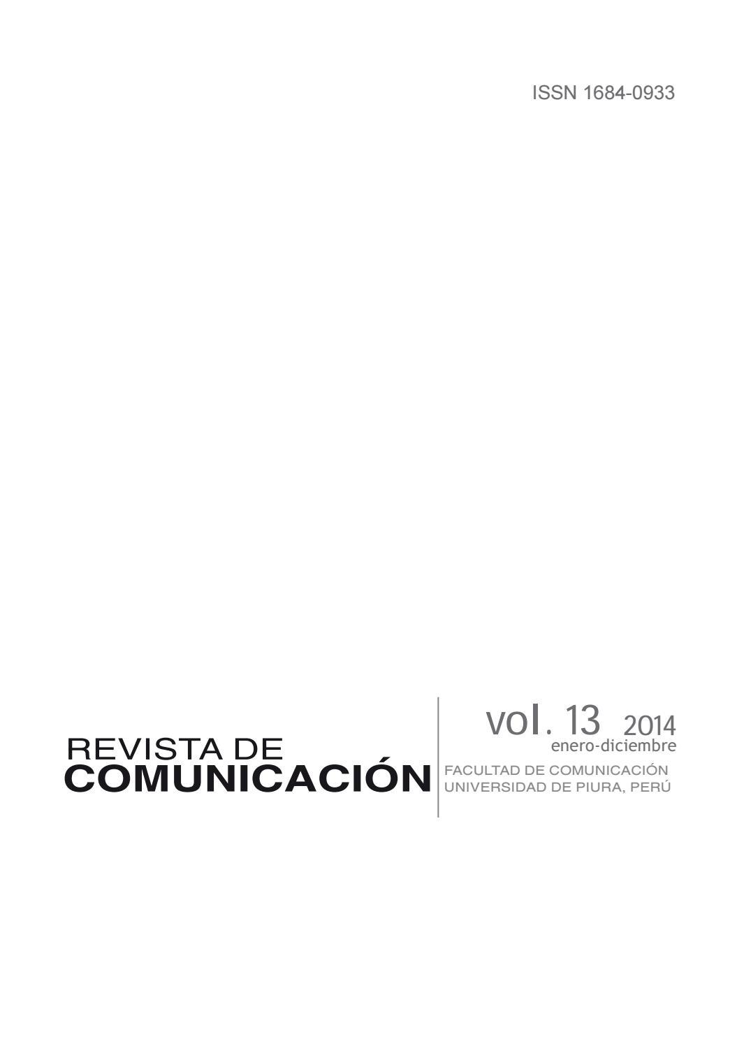 Revista De Comunicaci N Vol Xiii 2014 Universidad De Piura By  # Muebles Teofilo Aguilar De Campoo