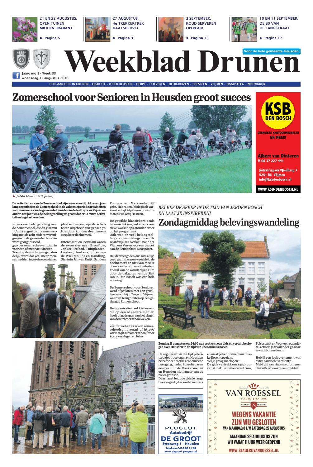 2e Hands Kantoormeubelen Nijkerk.Weekblad Drunen 17 08 2016 By Uitgeverij Em De Jong Issuu