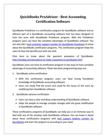 QuickBooks ProAdvisor - Best Accounting Certification Software by ...