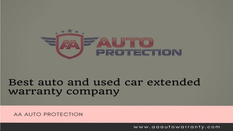 Extended Warranty For Used Cars >> Car Warranties For Used Cars By Aaautoprotection Issuu