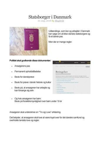 statsborgerskab bevis
