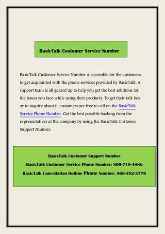 Basictalk customer service number by customernumber - issuu