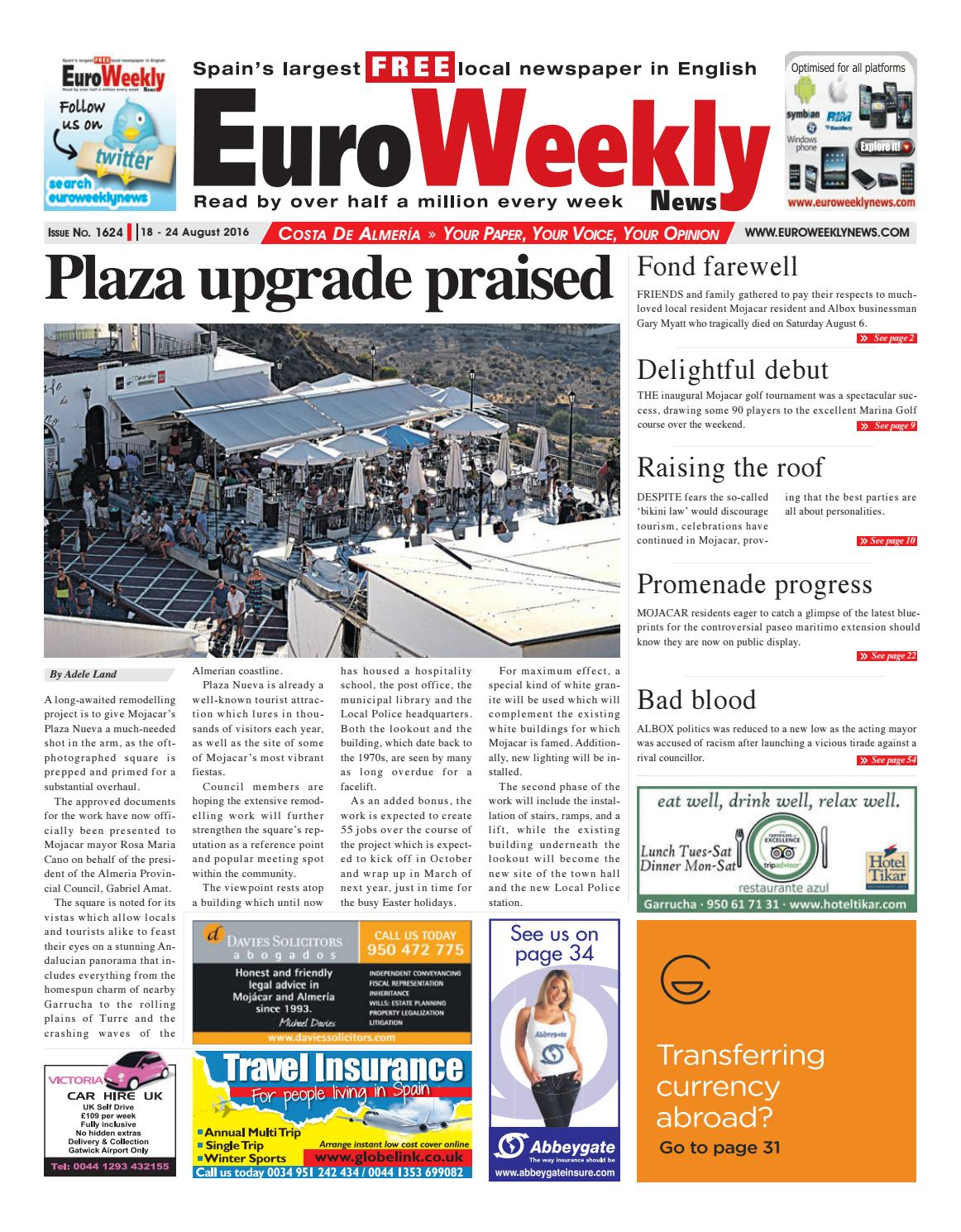 Euro weekly news costa de almeria 18 24 august 2016 issue 1624 euro weekly news costa de almeria 18 24 august 2016 issue 1624 by euro weekly news media sa issuu fandeluxe Choice Image