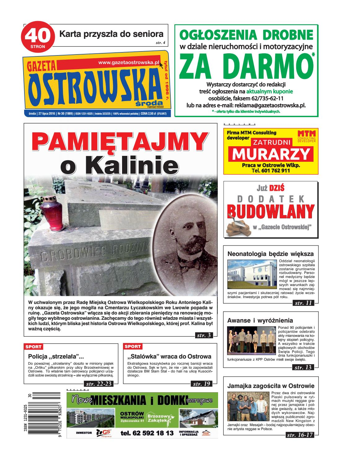 Go 30 2016 By Gazeta Ostrowska Issuu