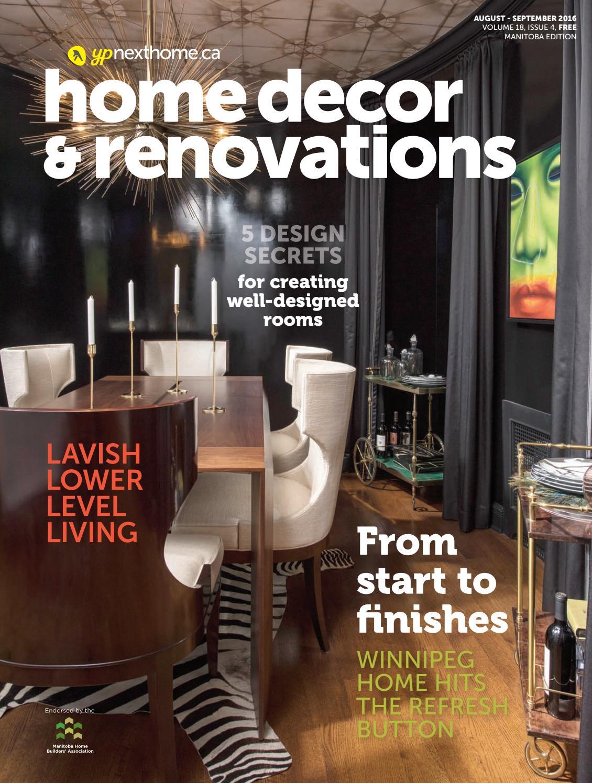 Manitoba Home Decor Renovations