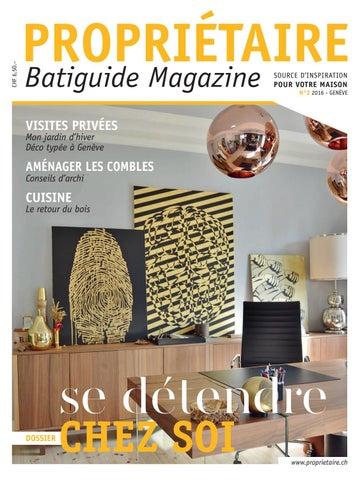 Propriétaire Magazine Genève 2016