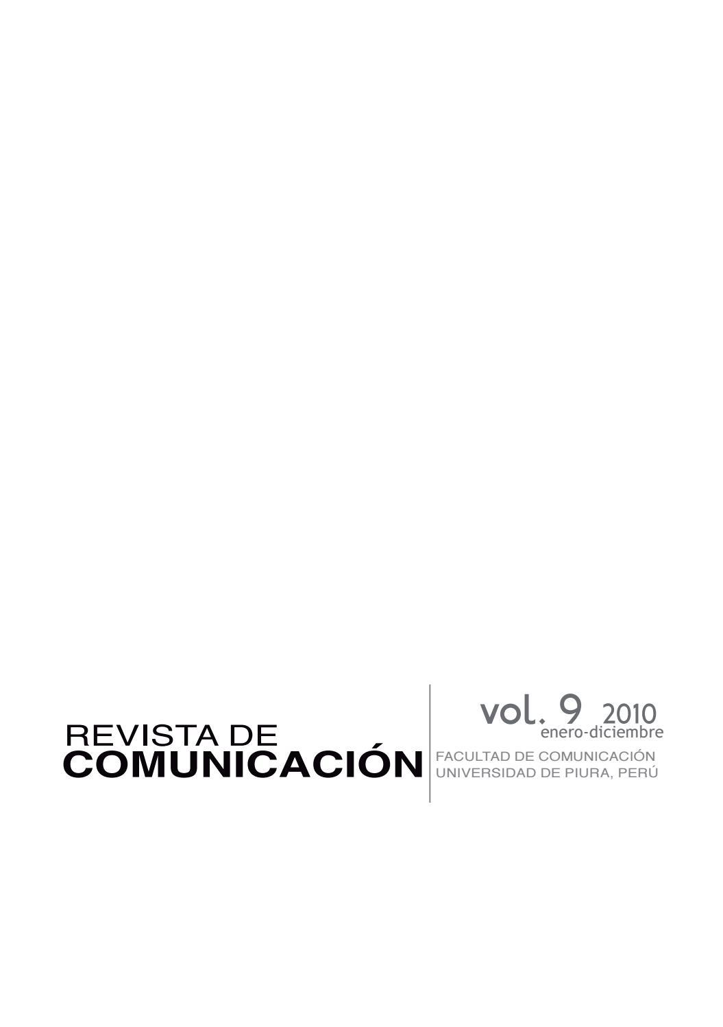 Revista de Comunicación vol. IX, 2010. Universidad de Piura by ...