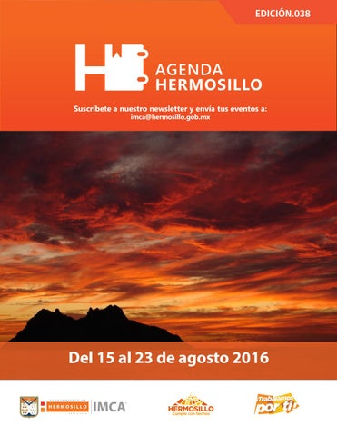 "Cover of ""Agenda Hermosillo 15 agosto 2016"""