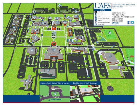 Uafs Campus Map By University Of Arkansas Fort Smith Issuu