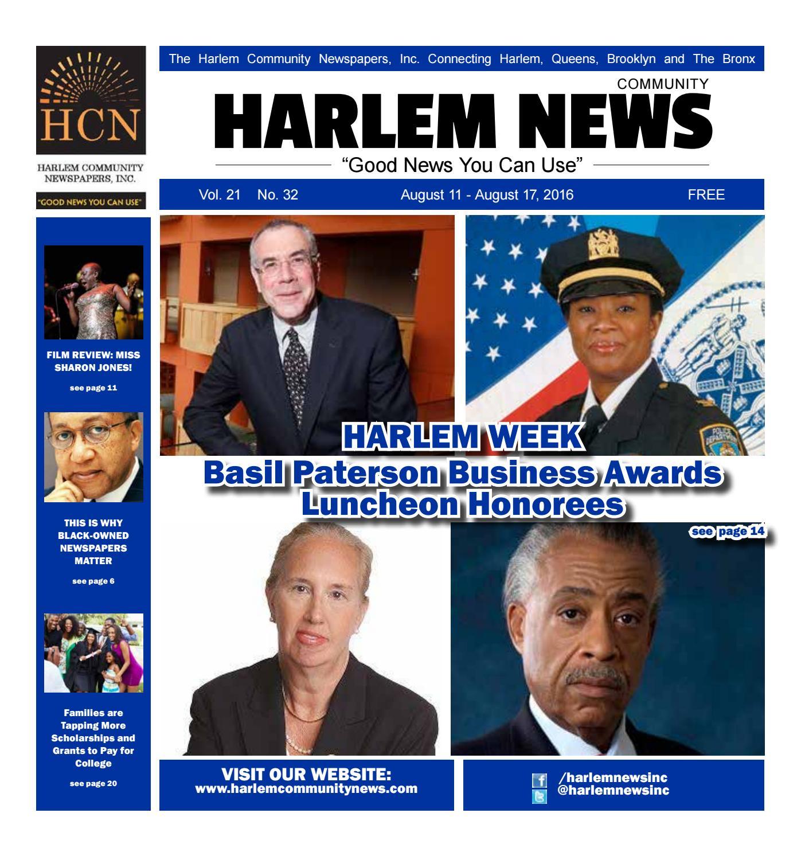 HARLEM COMMUNITY NEWSPAPERS | August 11, 2016 by Mike Kurov