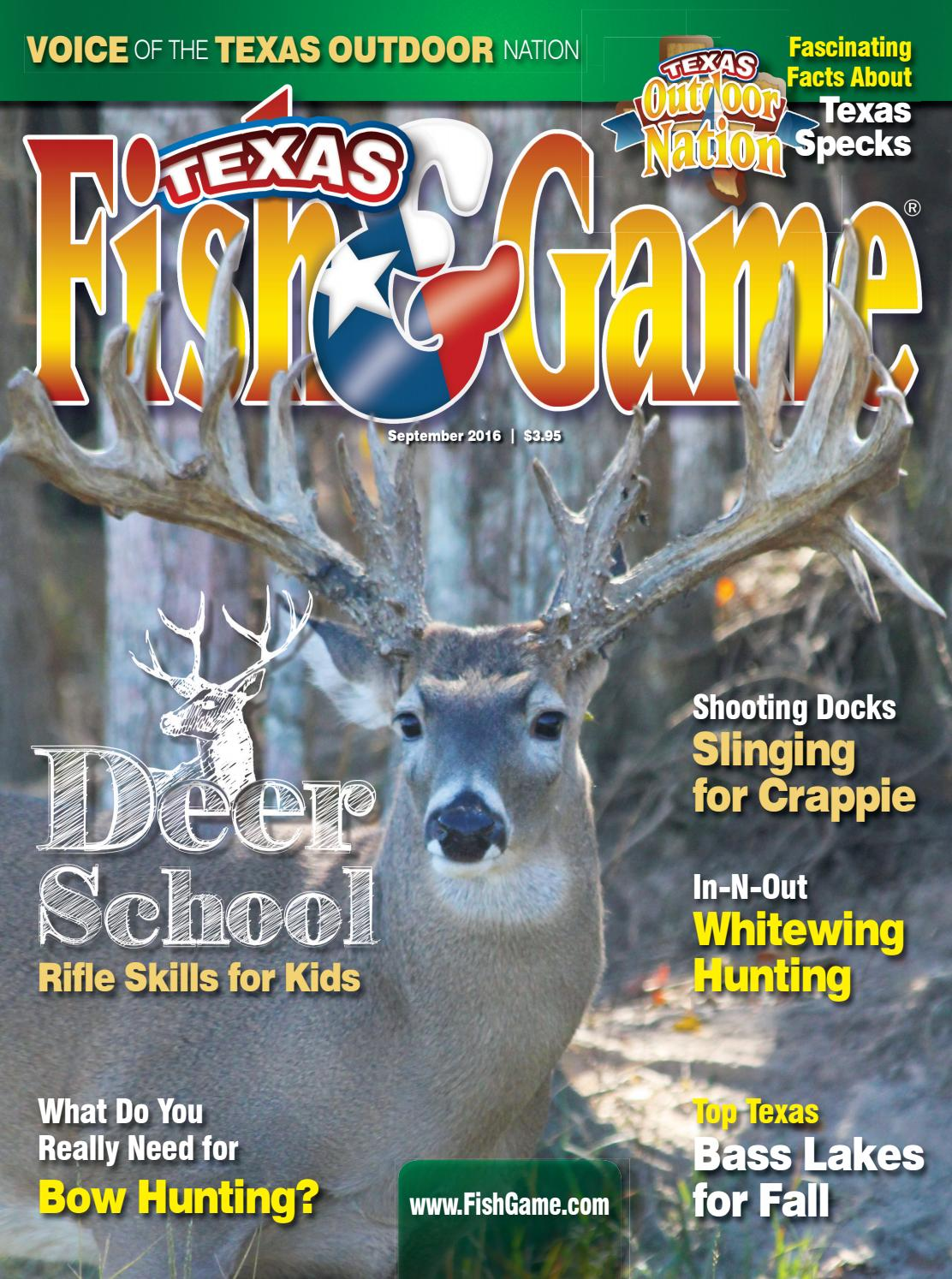 Texas fish game september 2016 by texas fishing and for Texas game and fish