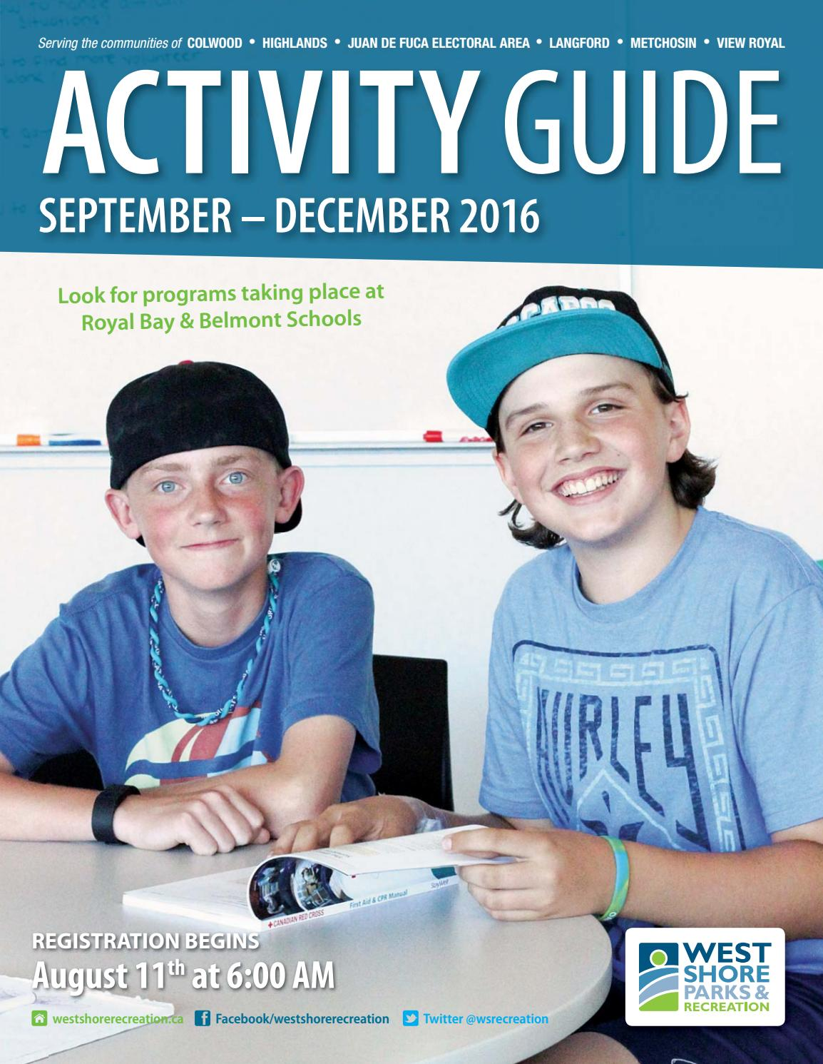 Activity Guide September December 2016 By West Shore