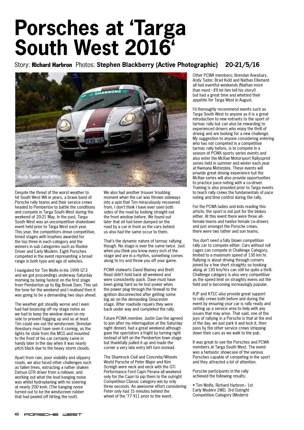 Porsche West 2 - 2016 by Composite Colour - issuu