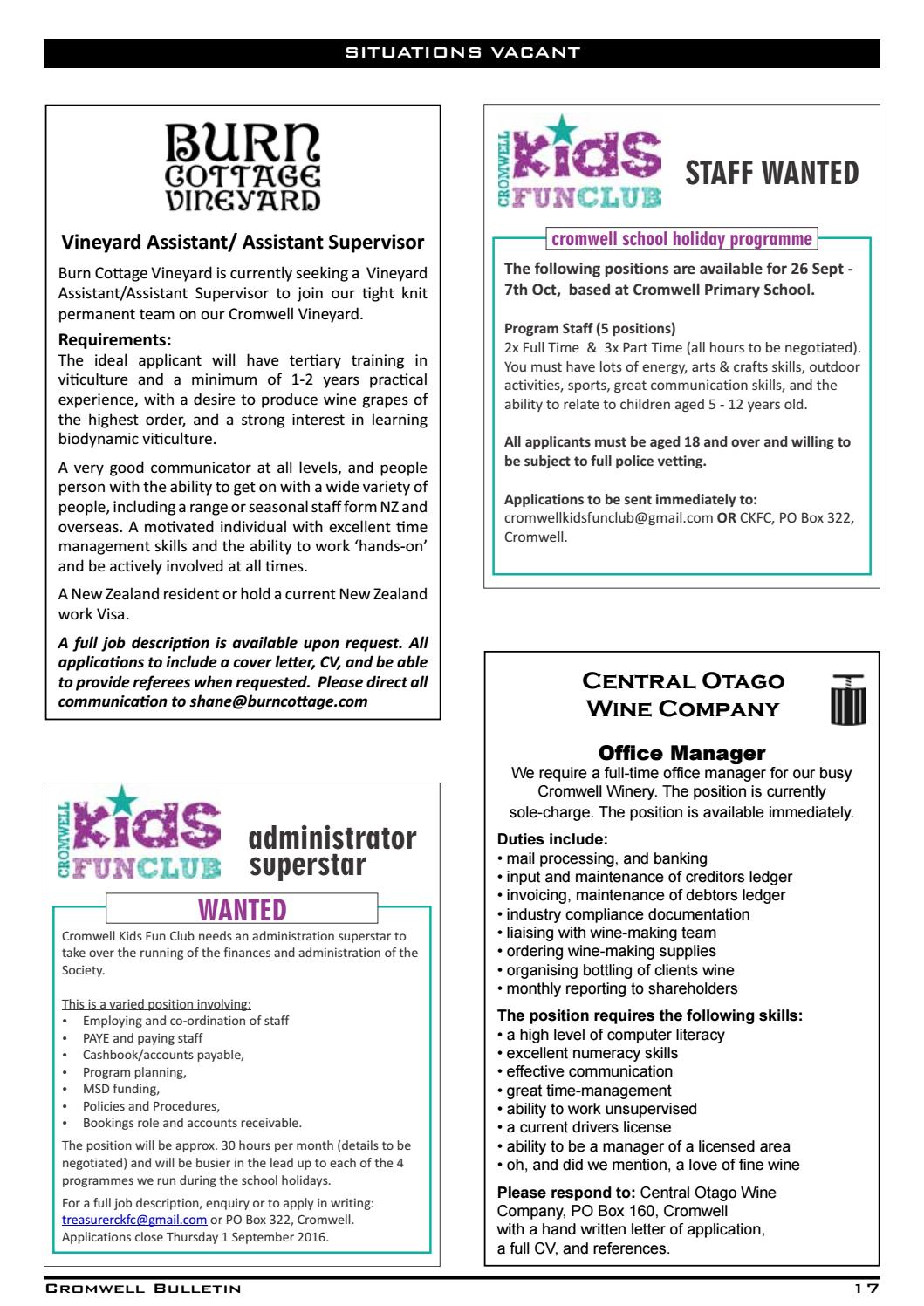 Bulletin 1493 by Cromwell Bulletin issuu – Produce Supervisor Job Description