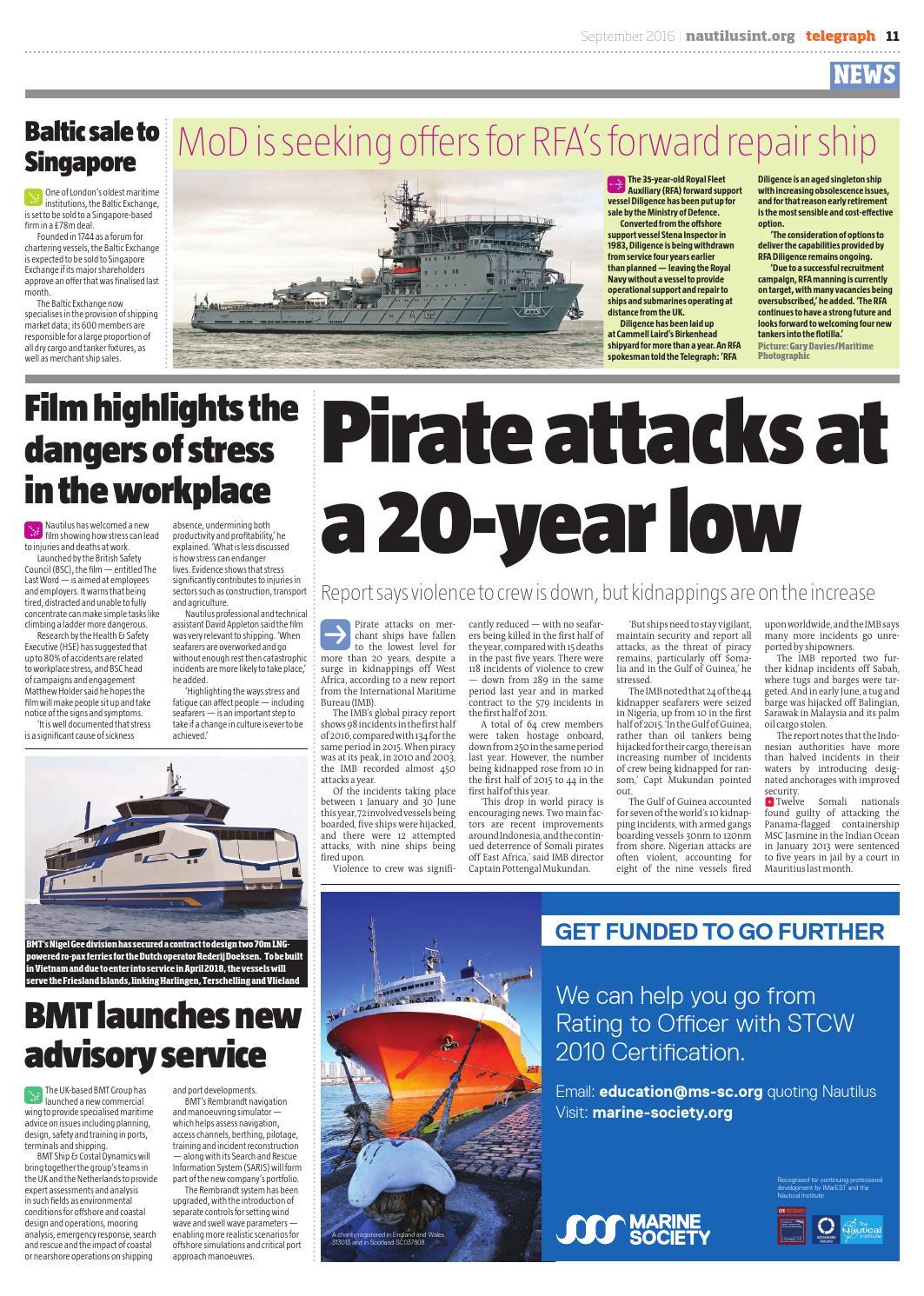 Nautilus Telegraph September 2016 by Redactive Media Group