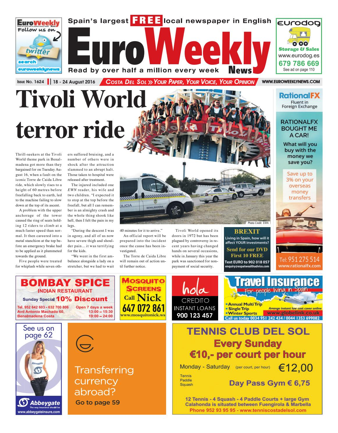 48ed0d66b32e Euro Weekly News - Costa del Sol 18 - 24 August 2016 Issue 1624 by Euro  Weekly News Media S.A. - issuu