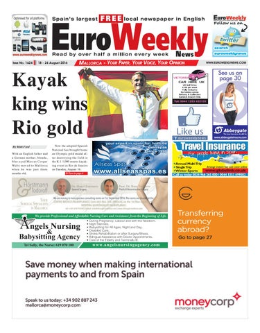 Euro Weekly News - Mallorca 18 - 24 August 2016 Issue 1624