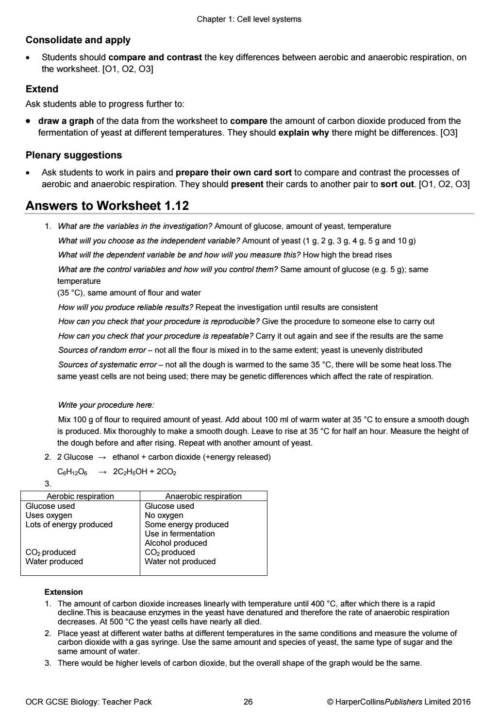 OCR GCSE Biology: Teacher Pack by Collins - issuu