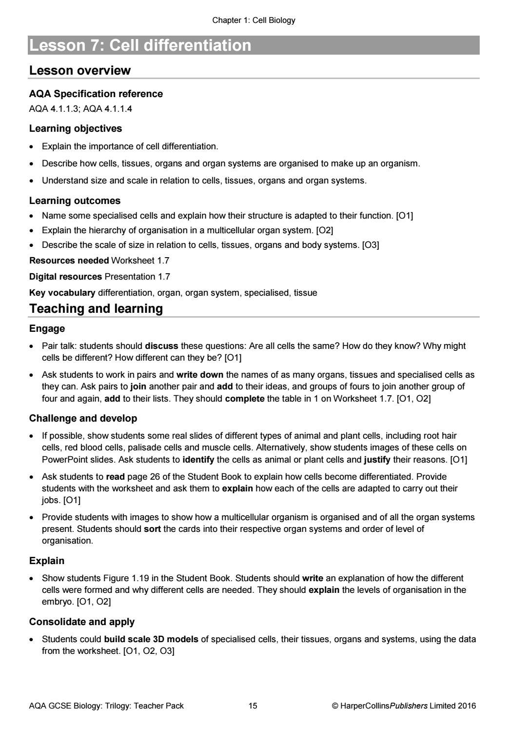 worksheet Biology Gcse Worksheets aqa gcse 9 1 combined science trilogy teacher pack by collins issuu