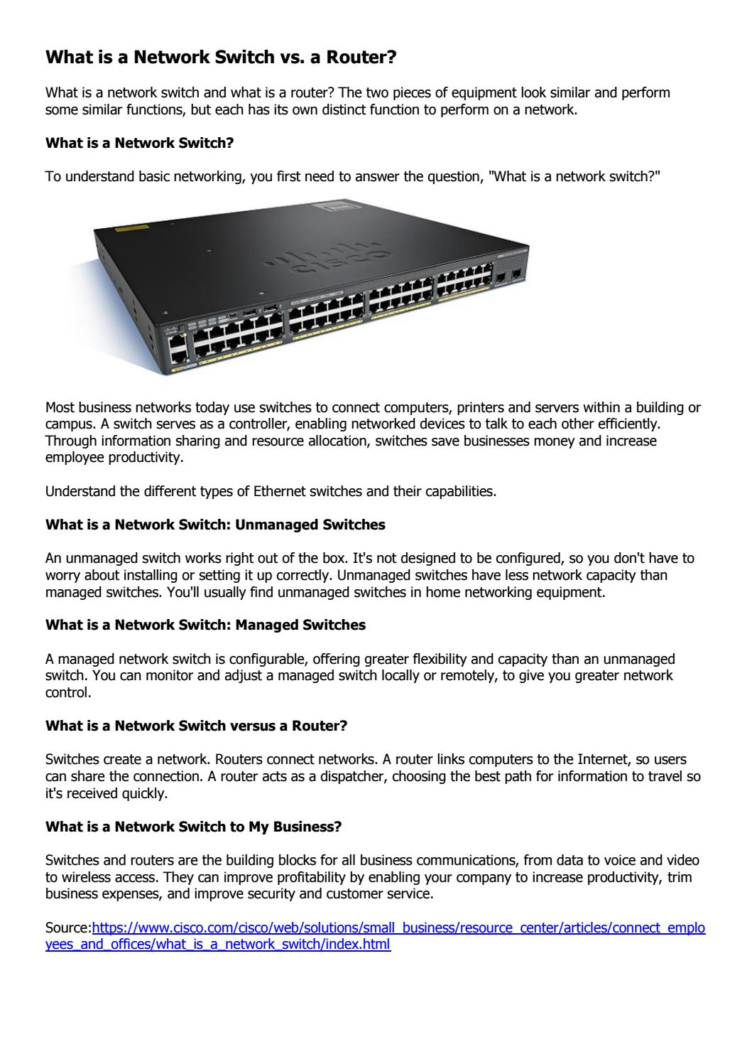 What is a network switch by Genevicost - issuu