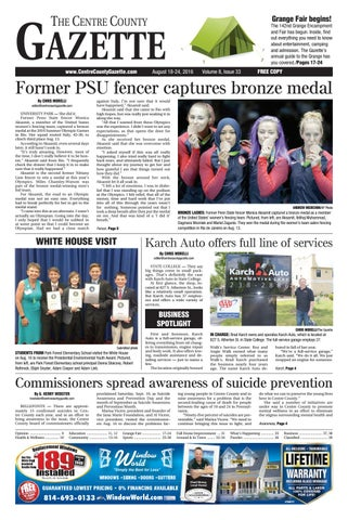 Centre County Gazette August 18 2016 By Indiana Printing