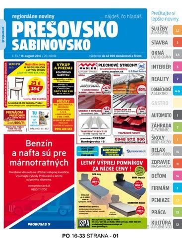 9f2d912531f21 Presovsko c. 33/2016 by presovsko presovsko - issuu