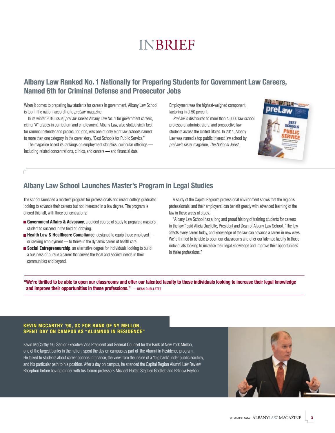Albany Law magazine 2016 by Albany Law School - issuu