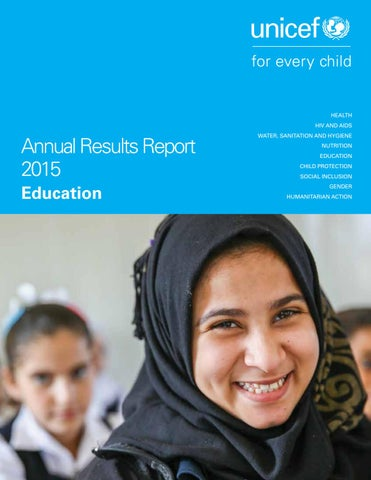 Annual Results Report 2015 Education By Unicef Publications New