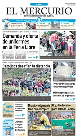 hemeroteca 18-08-2016 by Diario El Mercurio Cuenca - issuu 60ac3e8493fe2