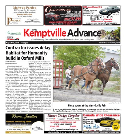 aeba6533a Kemptville081816 by Metroland East - Kemptville Advance - issuu