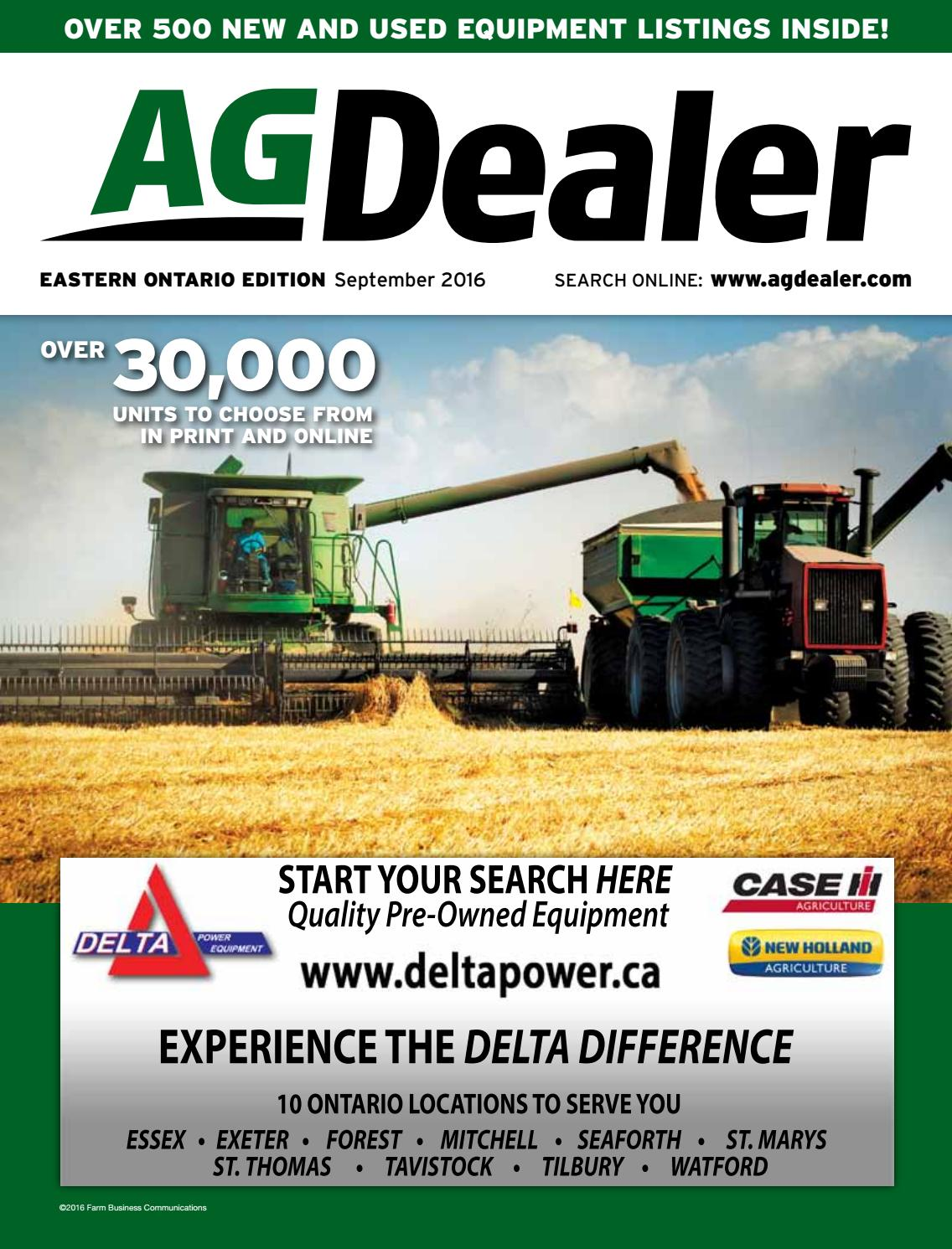 AGDealer Eastern Ontario Edition, September 2016 by Farm