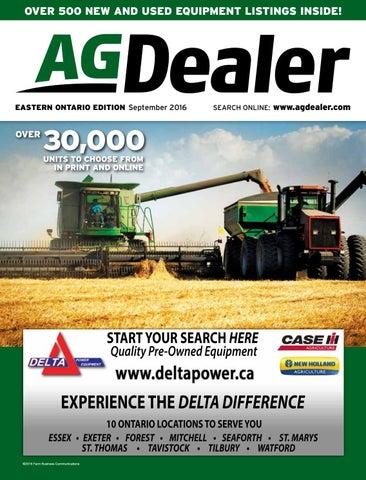 AGDealer Eastern Ontario Edition, September 2016 by Farm