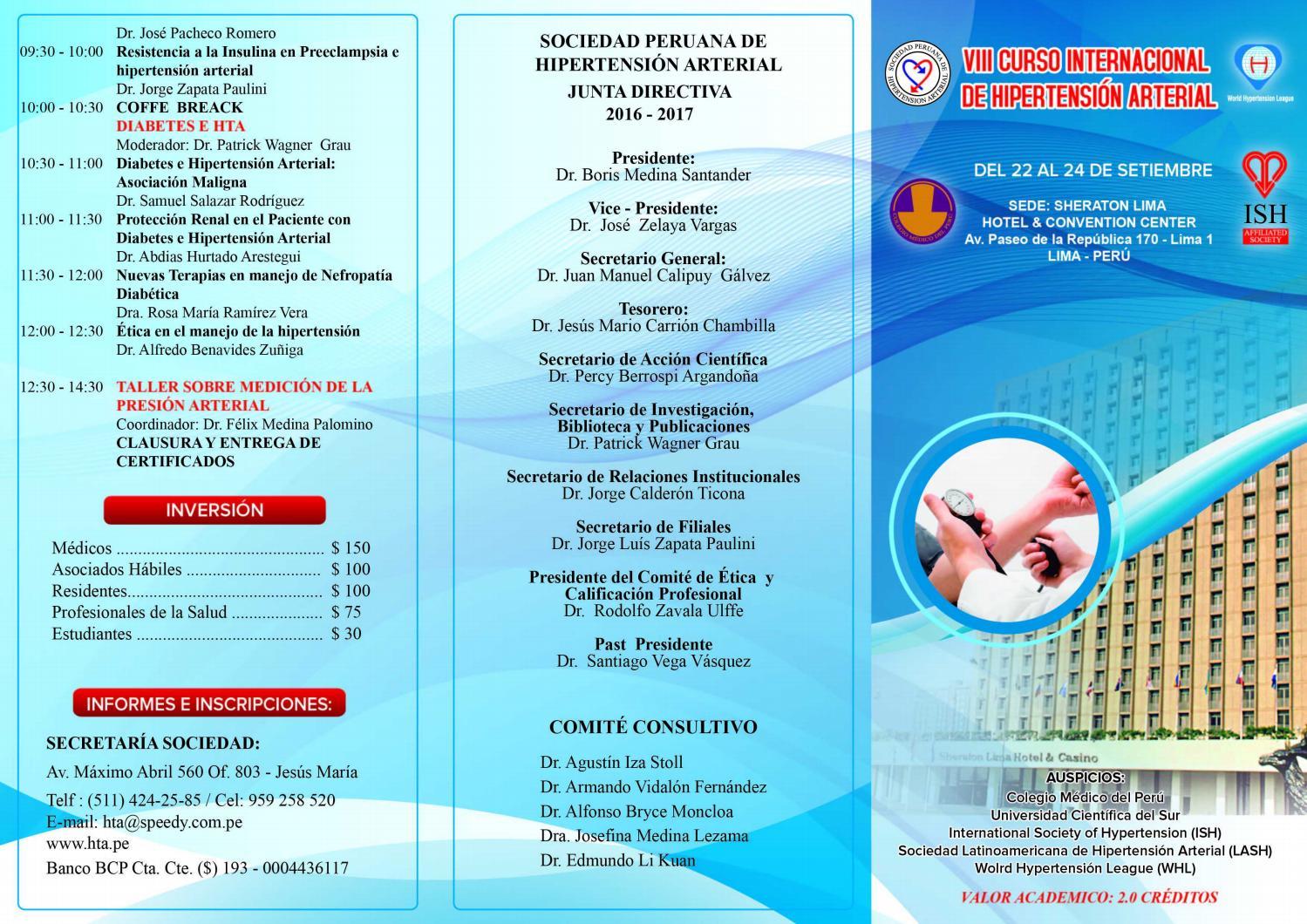 VIII Curso Internacional Hipertensión Arterial by Sociedad..