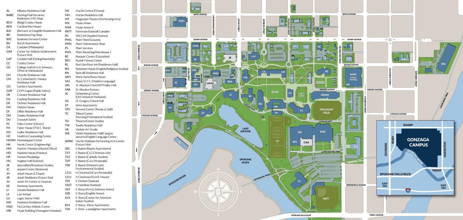 2016 Gonzaga University Campus Map by Gonzaga University   issuu