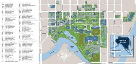 gonzaga university campus map 2016 Gonzaga University Campus Map By Gonzaga University Issuu gonzaga university campus map