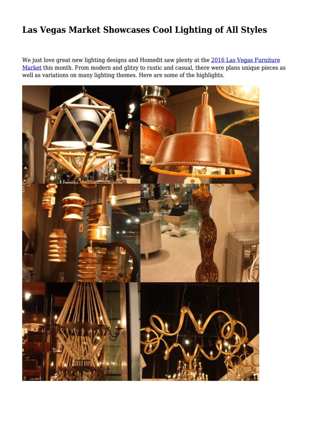 Las vegas market showcases cool lighting of all styles by greensbororemodelingpros issuu